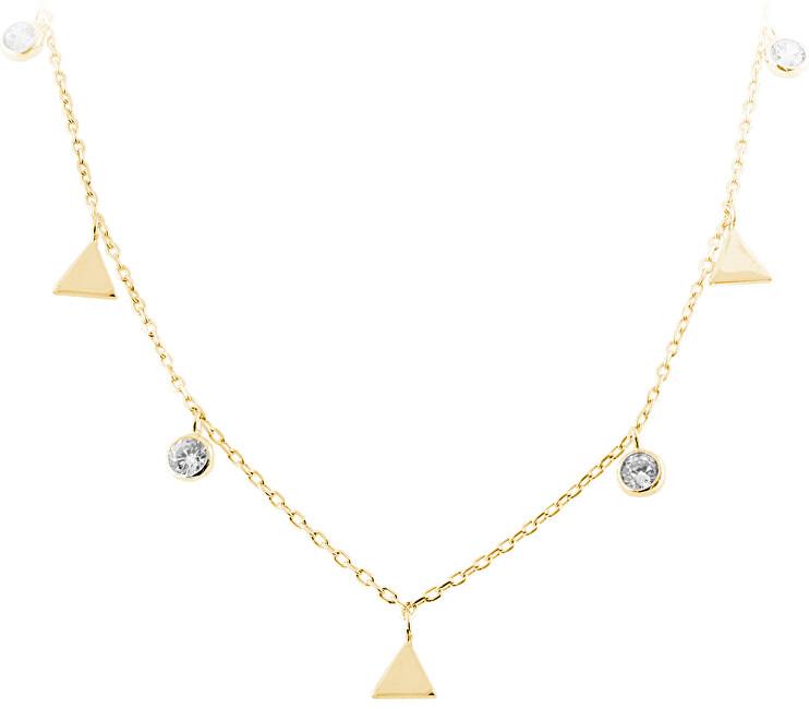JVD Strieborný náhrdelník s trojuholníkmi SVLN0261SH2GO42