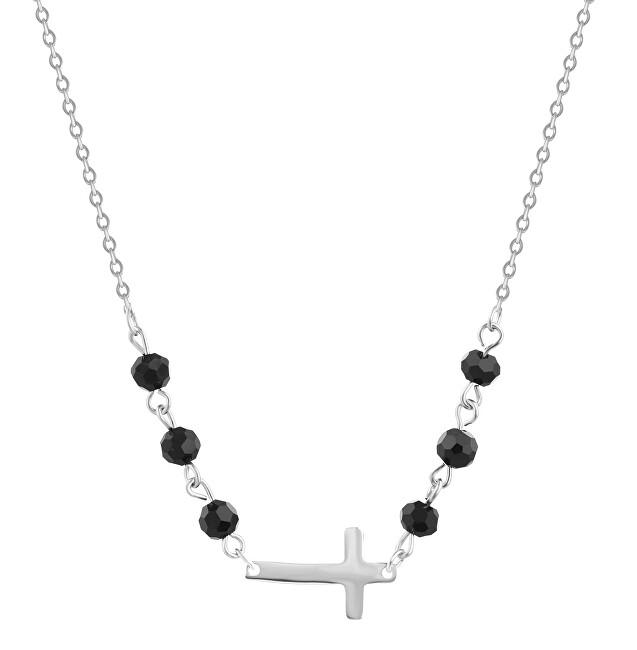JVD Strieborný náhrdelník s Onyx SVLN0171XH2ON45
