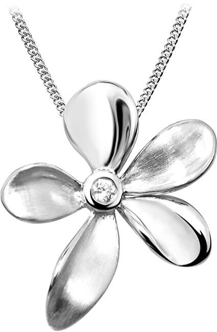 JVD Stříbrný přívěsek Květ SVLP0079SH8BI00