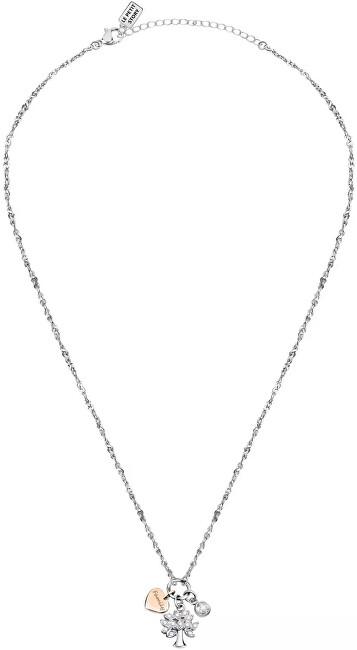 La Petite Story Dámsky oceľový náhrdelník s príveskami Strom života Family LPS05ASF17