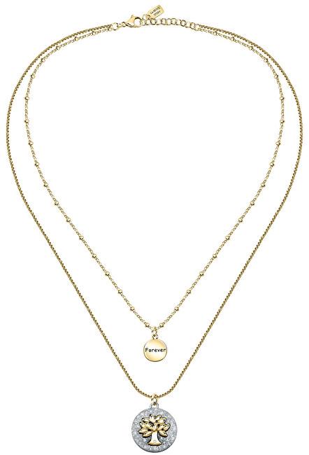 La Petite Story Dámsky oceľový náhrdelník s príveskami Strom života Family LPS10ASF03