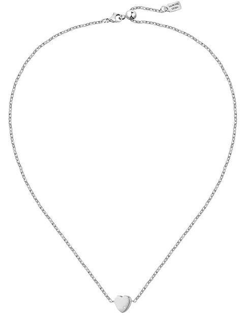 La Petite Story Romantický oceľový náhrdelník s kryštálom Love LPS10ASD08