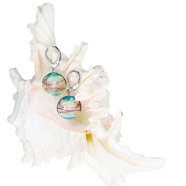 Lampglas Něžné náušnice Sweet Childhood z perel Lampglas s ryzím stříbrem EP22