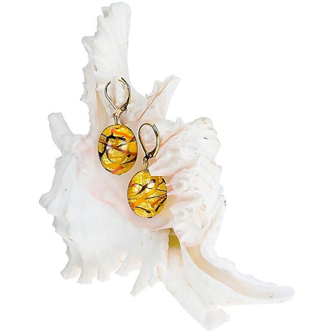 Lampglas Originální náušnice Sunny Meadow z perel Lampglas s 24karátovým zlatem EP16