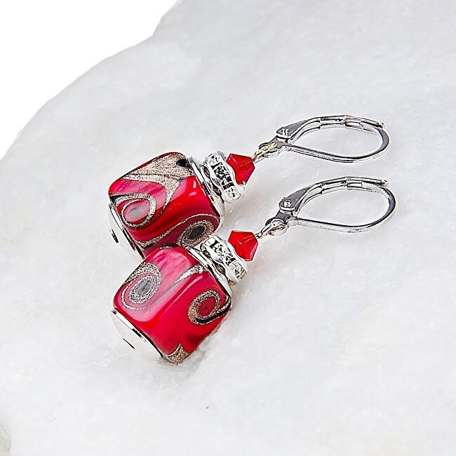 Lampglas Vášnivé náušnice Scarlet Passion z perel Lampglas ESA16
