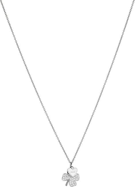 Liu.Jo Oceľový náhrdelník sa štvorlístkom LJ1403