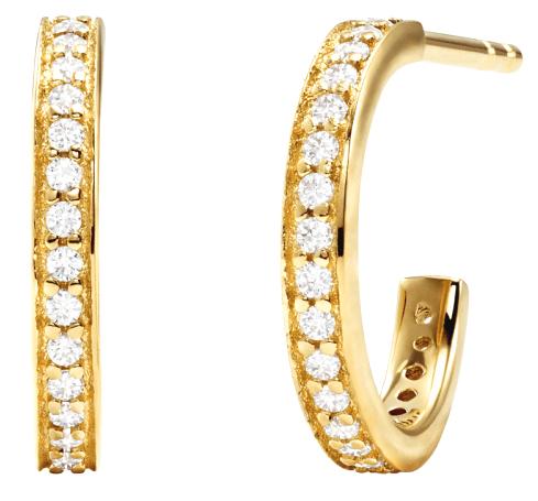 Michael Kors Pozlacené kruhové náušnice s krystaly MKC1177AN710