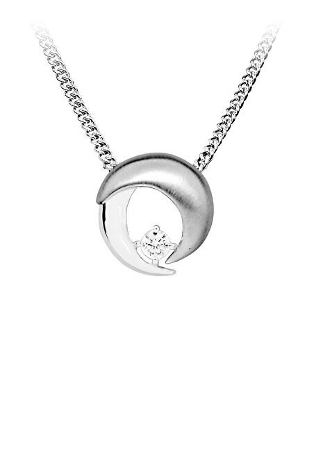MOISS Krásný stříbrný přívěsek s čirým zirkonem P0001068