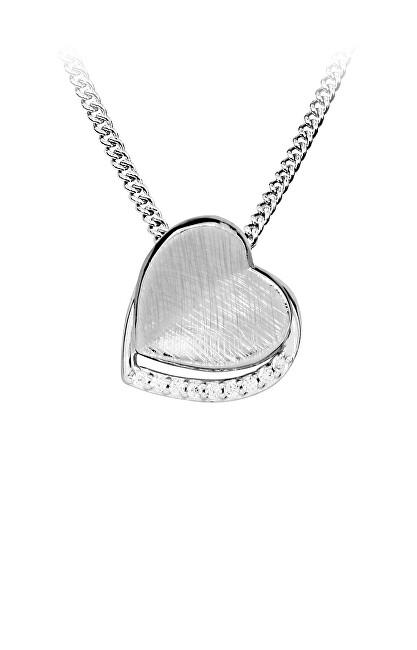 MOISS Romantický stříbrný přívěsek se zirkony P0001001