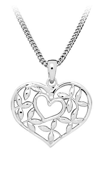 MOISS Romantický stříbrný přívěsek Srdce P0001039