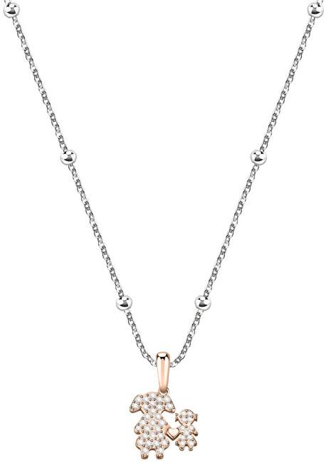 Morellato Bicolor náhrdelník s kryštálmi Love SOR15