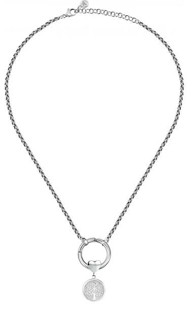 Morellato Elegantný oceľový náhrdelník s kryštálom Strom života Drops SCZ1178