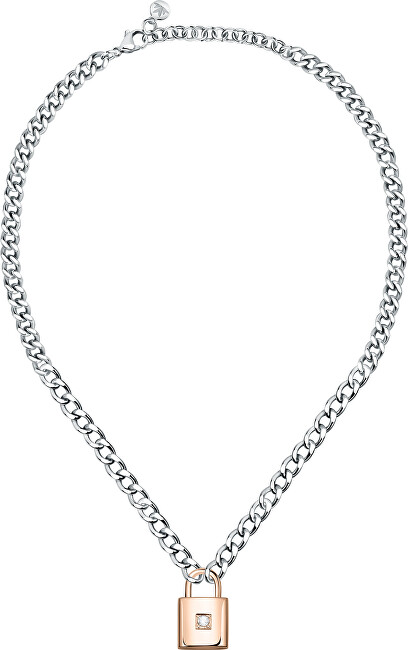Morellato Oceľový bicolor náhrdelník s kryštálom Abbraccio SAUB03