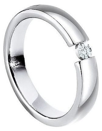 Morellato Ocelový prsten s diamantem Love Rings S8532 65 mm