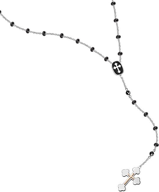 Morellato Pánsky oceľový náhrdelník s krížikom God SANF11