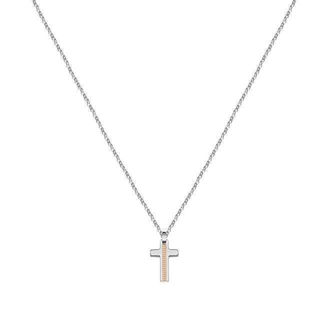 Morellato Pánsky oceľový náhrdelník s krížikom Motown SALS44