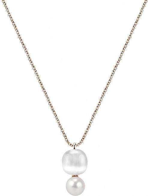 Morellato Bronzový náhrdelník Gemma Perla SATC02 (retiazka, prívesok)