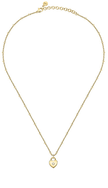 Morellato Pôvabný pozlátený náhrdelník s kryštálom Abbraccio SAUB15