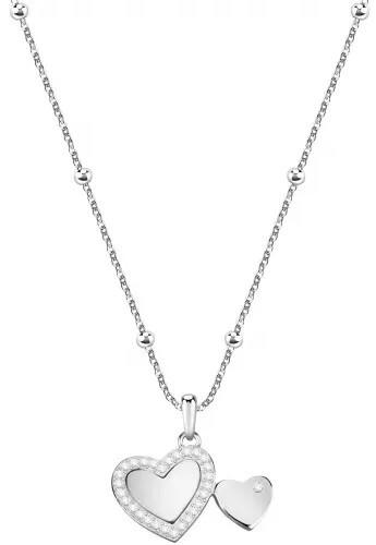 Morellato Romantický náhrdelník s dvomi srdiečkami Love SOR18