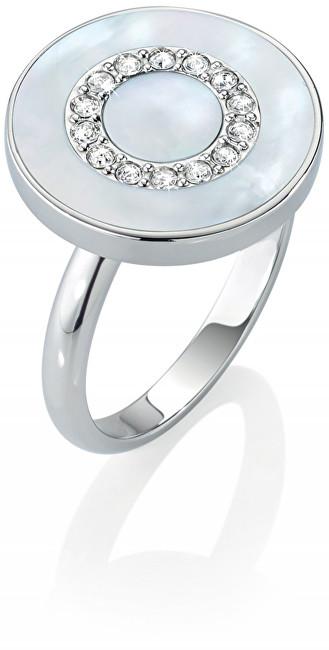 Morellato Stříbrný prsten s perletí a krystaly Perfetta SALX09 54 mm