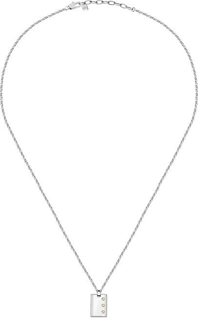 Morellato Štýlový pánsky oceľový náhrdelník Gold SATM01