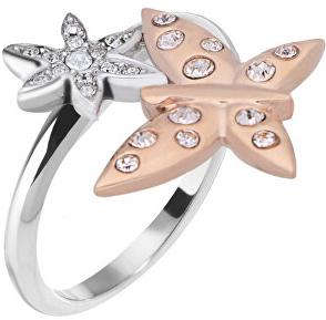 Morellato Ocelový bicolor prsten s motýlkem Natura SAHL06 52 mm Morellato