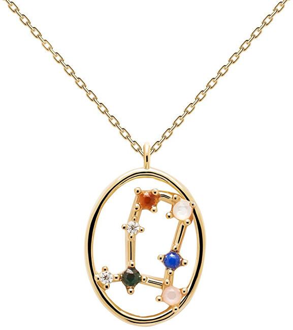 PDPAOLA Originálne pozlátený náhrdelník Blíženci GEMINI CO01-346-U (retiazka, prívesok)