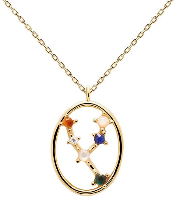 PDPAOLA Originálne pozlátený náhrdelník Býk TAURUS CO01-345-U (retiazka, prívesok)
