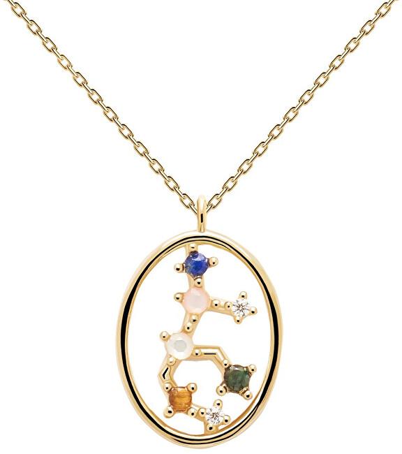 PDPAOLA Originálne pozlátený náhrdelník Panna VIRGO CO01-349-U (retiazka, prívesok)