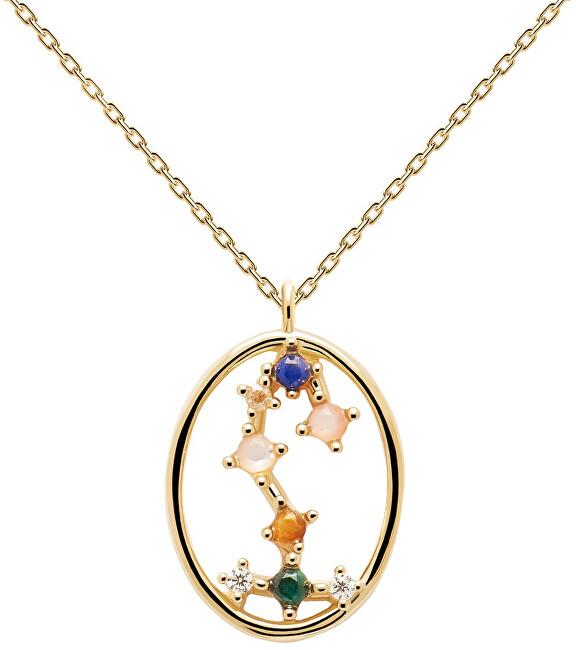 PDPAOLA Originálne pozlátený náhrdelník Škorpión SCORPIO CO01-351-U (retiazka, prívesok)