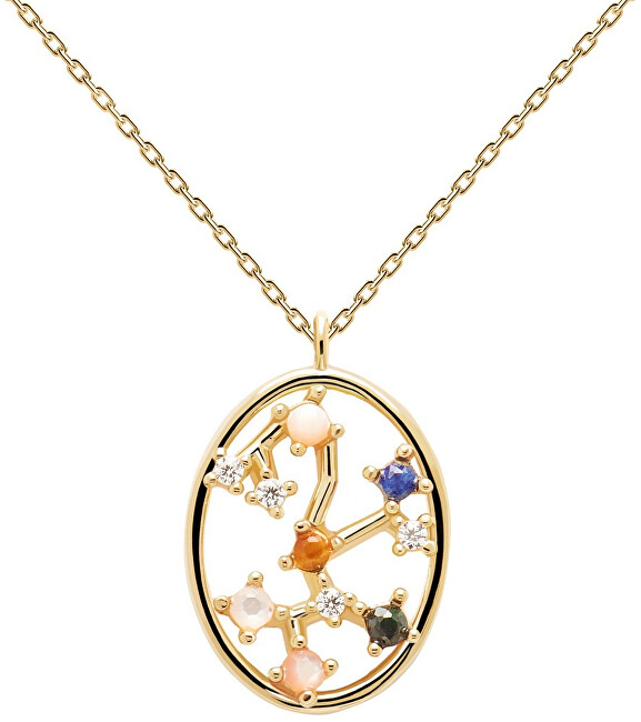 PDPAOLA Originálne pozlátený náhrdelník Strelec Sagitarius CO01-352-U (retiazka, prívesok)