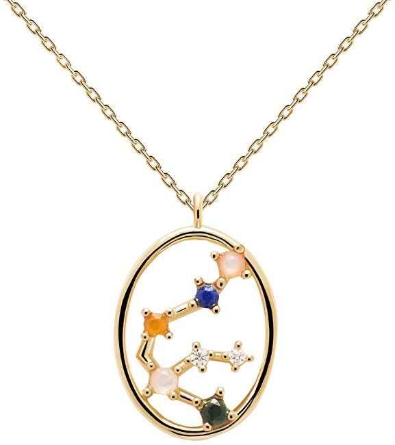 PDPAOLA Originálne pozlátený náhrdelník Vodnár AQUARIUS CO01-342-U (retiazka, prívesok)