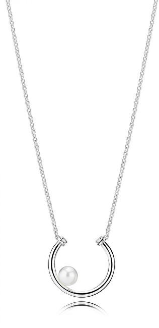 Pandora Strieborný náhrdelník s pravou perlou 397526P-50