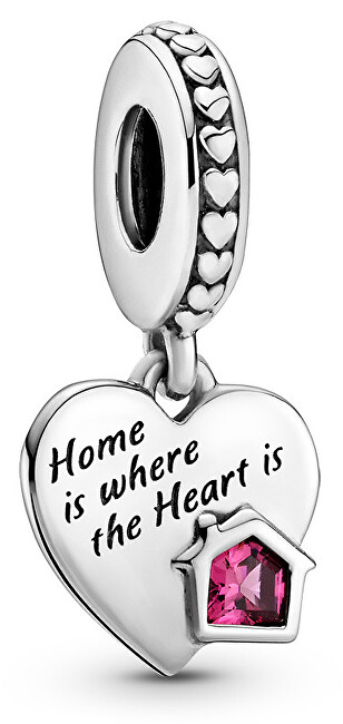 Pandora Strieborný prívesok Srdce s láskou k domovu 799324C01