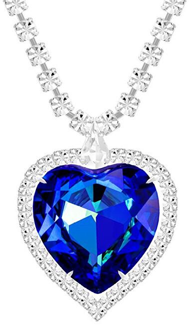 Preciosa Nádherný náhrdelník modré srdce s českým krištáľom 2025 46