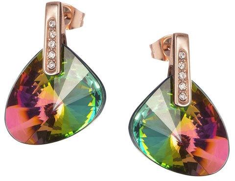 Preciosa Náušnice Brilliant Stone s krystalem Vitrail Medium 7219P41