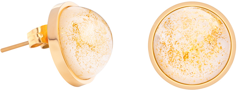 Preciosa Náušnice pecky se zlatavými křišťály Mays 7356Y50