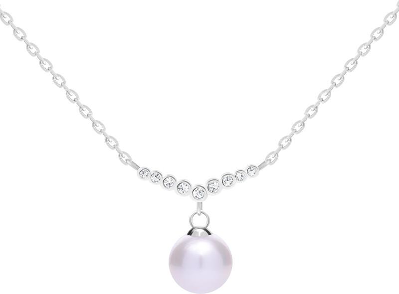 Preciosa Nežný strieborný náhrdelník s pravou perlou Samoa 5308 00