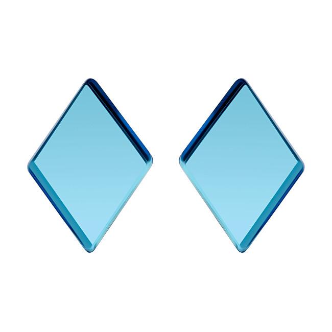 Preciosa Ocelové náušnice Fragmentum s modrým kříšťálem 7375 67