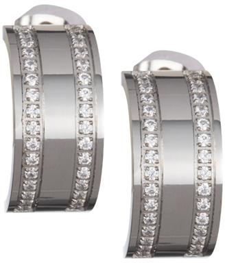 Preciosa Ocelové náušnice Mia s čirými krystaly 7225 00