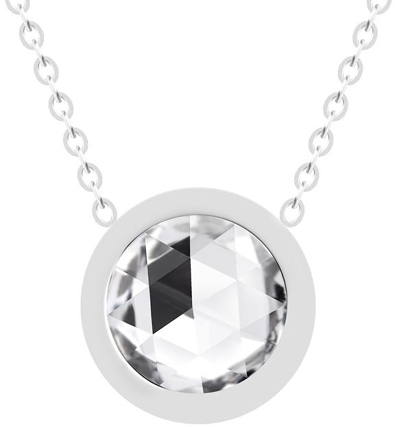 Preciosa Ocelový náhrdelník s českým křišťálem Gemini 7339 00