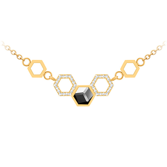 Preciosa Ocelový náhrdelník s křišťálem Honeygon 7382Y48