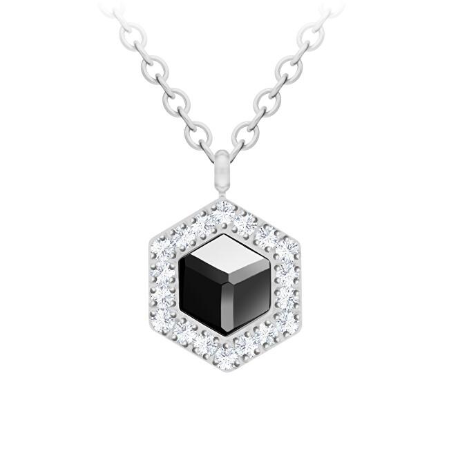 Preciosa Ocelový náhrdelník s křišťálem Honeygon 7384 48