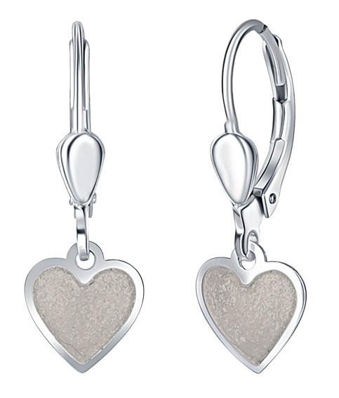 Praqia Dievčenské strieborné náušnice Krémové srdce NA6350_RH