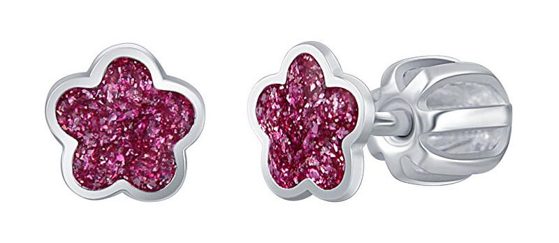 Praqia Drobné strieborné náušnice Ružový kvet NA6334_RH