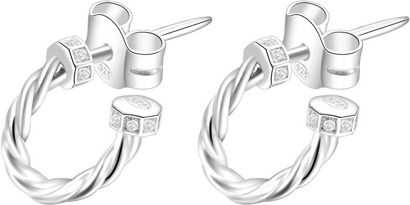 Rosato Strieborné kruhové náušnice so zirkónmi Storie RZO001
