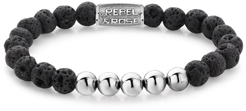 Rebel&Rose Korálkový náramek Black Moon DV RR-8DV03-S 19 cm - L