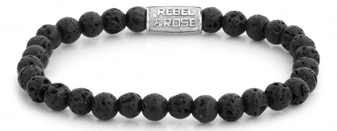 Rebel&Rose Korálkový náramek Black Moon RR-60031-S 16,5 cm - S