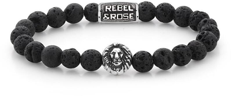Rebel&Rose Korálkový náramek Black Moon RR-8L021-S 19 cm - L