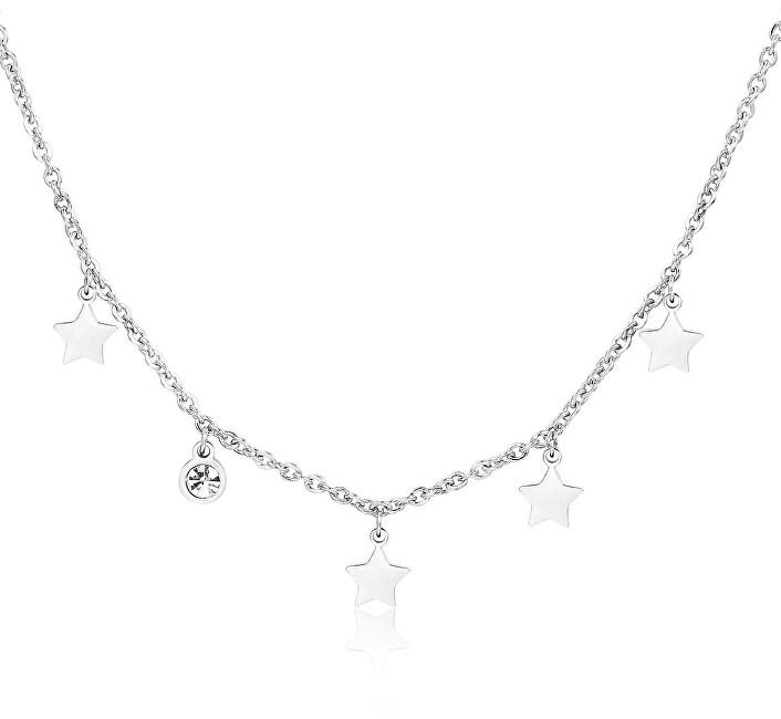 S`Agapõ Hviezdny oceľový náhrdelník Luce SCE02
